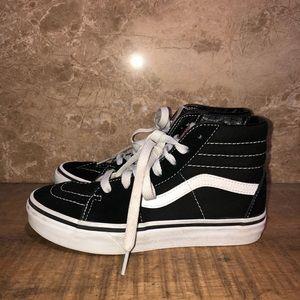 Vans Boy's kids Sk8-HIb Black sneakers size 3